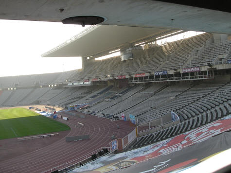 Soccer Stadium in Barcelona Spain