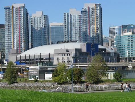 GM Place in Vancouver - Home of the Vancouver Canucks NHL Hockey Team